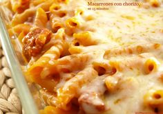 Macarrones con chorizo, en 15 minutos - MisThermorecetas.com