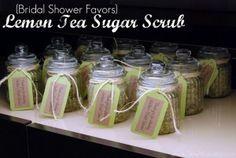 Lemon and green tea bath scrub