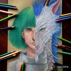 Desenhos criativos de personagens bons e seus vilões (2)