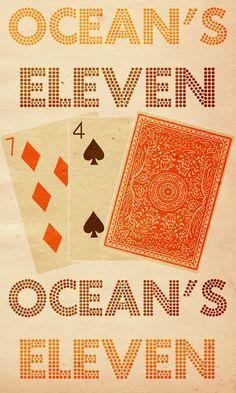 Ocean's Eleven (2001) ~ Minimal Movie Poster by Travis English #amusementphile