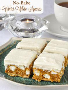 No Bake Winter White Cookies, Freezer Friendly