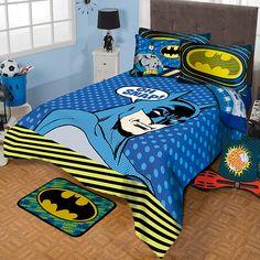 Coordinado de Edredon Batman #Infantil #Edredon #Hogar #IntimaHogar #Decoracion