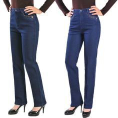 Free shipping Quinquagenarian jeans pants high waist straight elastic plus size plus size women trousers