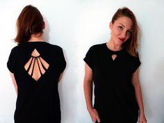 1. Geometric Cut-out Shirt | 2 Cool New Ways To Cut Up A T-Shirt