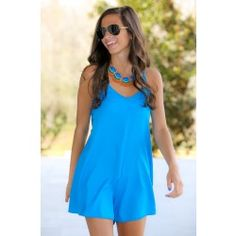 Cover Your Tracks Romper-Marine - $34.00