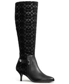 Coach Fara Dress Black Boots Size: 7New with tags 26% off Retail WAS $299.00 NOW $220.00