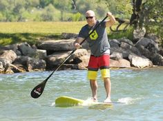 Hit the water at MEC Paddlefest in Barrie - You can come down and learn about different ways to paddle around on the water, including stand up paddleboarding, like Brent Acklund, from Northern Stand-up Paddle is doing.