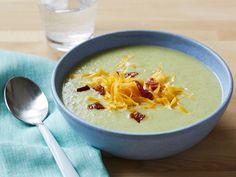 Broccoli Soup Recipe : Food Network Kitchen : Food Network - FoodNetwork.com-HOLD THE OIL AND CREAM AND VIOLA!