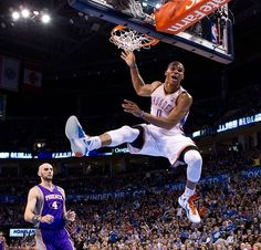 View photos for Russell Westbrook - 2012 Action Gallery College Basketball, Basketball Players, Kobe Bryant Nba, Nba Stars, American Sports, Russell Westbrook, Detroit Pistons, Oklahoma City Thunder, Nba Players
