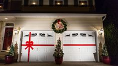 Image result for Christmas decoration for double door garage