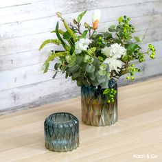 Meet Isabella – part of our new range of crystal cut vases, this new glass vase features a dome shape and is available in two sizes and two colours. Glass Terrarium, Glass Vase, Vases, Eco Friendly, Centerpieces, Recycling, Range, Meet, Colours