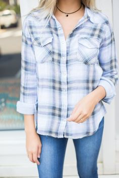 Willow Plaid Top – Swoon Boutique