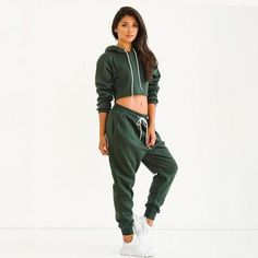 540734c83d SEDRINUO Casual Women Sexy Club Jumpsuits 2 Piece Set Crop Top Long Sleeve  Playsuit Loose