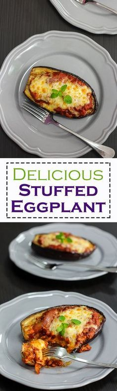 This Delicious Stuffed Eggplant makes a satisfying and easy dinner and it also makes a very pretty presentation for visiting guests