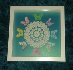 Button Butterfly circle