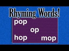Rhyming Words Game (learning game for children) Rhyming Word Game, Rhyming Preschool, Word Games, Preschool Activities, Kindergarten Learning, Learning Games, Teaching Kids, Kids Learning, School Rhymes