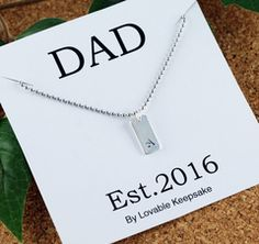 Personalized Men's Necklace - Mens Necklace - Personalized Dad Gift - Mens Necklace Pendant, New Dad Gift, Gifts for Husband, Gifts for Dad
