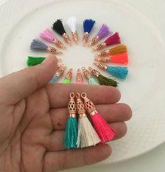 Rose Gold Filigree Tassels Handmade Small Luxury Silk