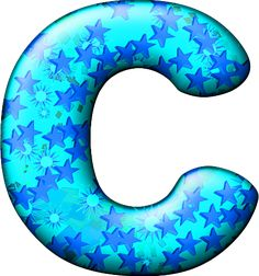 Presentation Alphabets: Party Balloon Cool Letter C