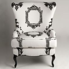 Wilshire Wingback Chair by Woodson & Rummerfield™  Queen Anne inspired wingback chair infused with contemporary lines.