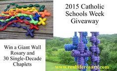 Win 30 Single-Decade Chaplets and a Giant Wall Rosary.  www.realliferosary.com