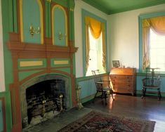 Color Lessons from the Past - Marin Youhouse Lee Colored Ceiling, Ceiling Color, Haint Blue, Georgian Interiors, Plank Ceiling, Blue Ceilings, Green Rooms, Close To Home, Shades Of Yellow