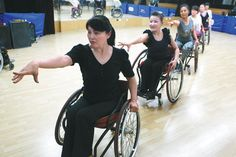 Beijing Wheelchair Dance Training Base group, including 27 people who are physically challenged.