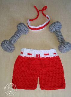 Kit Fitness de crochê