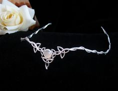 By far one of my favorite to date.........Celtic Wedding Bridal Headpiece Circlet Moonstone in by Camias, $125.00