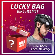 LUCKY BAG SURPRISE SEPTEMBER & OCTOBER U.S customers will get the bike helmet in 4 days over USPS. The helmet you get will be far from your expect 1. Enjoy The Exciting & Mysterious The exciting thing about this Lucky Bag is that it's a mystery bag! You have NO IDEA what products you'll receive. There is nothing to worry about the quality of the products inside. 2. Value For Money 3. Beyond Imagination & Expection Bicycle Helmet, Bike, Mystery Bag, Grab Bags, Mysterious, Imagination, September, Money, Color