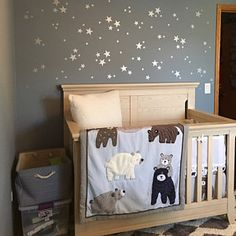 Silver Star Wall Decals Confetti Star Decals Set of 140 Classic Wallpaper, Textured Wallpaper, Nursery Twins, Nursery Ideas, Bedroom Ideas, Home Wall Decor, Room Decor, Star Wall, Baby Bedroom