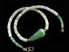 Peruvian Opal Australian Opal choker necklace gold vermeil