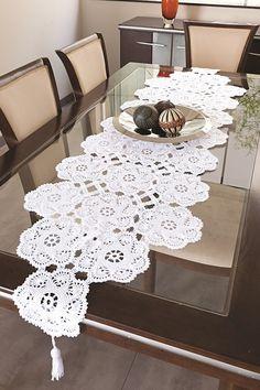 Leka Atelier: Crochê: Caminhos de mesa conquistam ambientes sofi...