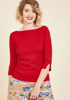 Up to Parisienne Sweater in Red