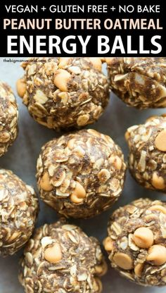Bake Oatmeal Energy Balls with peanut butter! A quick and easy recipe made wi. - No Bake Oatmeal Energy Balls with peanut butter! A quick and easy recipe made with wholesome ingred -No Bake Oatmeal Energy Ball. Easy Snacks, Quick Easy Meals, Healthy Snacks, Recipes With Quick Oats, High Protein Snacks, Snacks Recipes, Protein Recipes, Protein Foods, Recipies