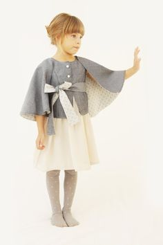 A Girl Should Be Two Things: Classy and Fabulous - Coco Chanel The Butterfly cape coat is a must for any girl wardrobe. Stylish Little Girls, Stylish Kids, Little Girl Fashion, Fashion Kids, Vest Outfits, Kids Outfits, Cape Coat, Mode Inspiration, My Baby Girl