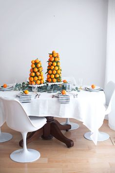Mandarin Tower Table Centerpieces – A Beautiful Mess