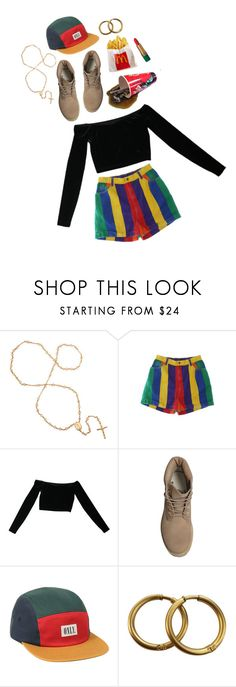 """""""90's babe"""" by gumnut-baby ❤ liked on Polyvore featuring American Apparel, Timberland, Zimmermann, Chanel, Revlon and 90s"""