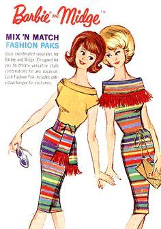 Barbie & Midge - Mix 'N Match (Fashion Paks) #