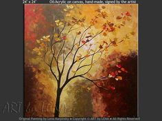 "paintings of trees | Landscape Art : Trees painting ""A Lone Tree"""