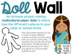 Doll Wall: Celebrating Diversity with Multicultural Paper Dolls Teacher Notes, Teacher Pay Teachers, Student Of The Week, School Community, English Language Learners, My Dream Came True, School Building, Teaching Activities, You Are Perfect