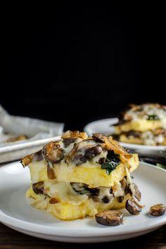 Spinach and Mushroom Polenta Stacks - WomansDay.com