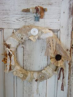 another #Vintage #lace #Wreath