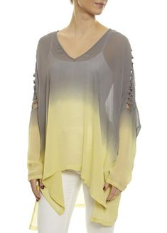 Paradise Grey/Lemon Grass Loose Two Tone Top Religion Clothing, Shirt Blouses, Shirts, Lemon Grass, Women's Tops, Outerwear Women, Eileen Fisher, Fashion Boutique, Fashion Ideas