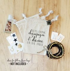 DRINK CHAMPAGNE  Personalized Favor Bags  by foryourlittlemonkey