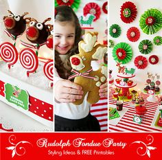 Rudolph Fondue Party + FREE Party Printables Collection