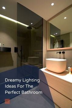 Check our collection of bathroom lighting design ideas you can try on your next bathroom remodel and say goodbye to dull bathroom lighting. Next Bathroom, Bathroom Plans, Wall Mounted Vanity, Wall Sconces, Pink Accent Walls, Bathroom Renovation Cost, Bathroom Lighting Design, Cool Lighting, Lighting Ideas