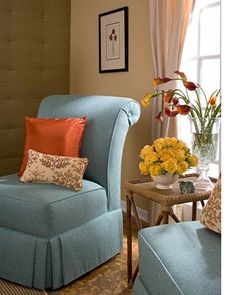 By learning just a few basic upholstery techniques and methods you will be able to re-upholstery worn and faded pieces, or make your own pieces of upholstered furniture.  The hardest part of any upholstery project is taking that first step... http://www.home-dzine.co.za/crafts/craft-upchair.htm#