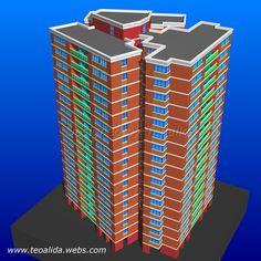 Trapezoid Tower apartment block design in AutoCAD Tower Apartment, Apartment Plans, Plan Design, Block Design, House Information, Corner Unit, Cool Apartments, Prefab, Service Design