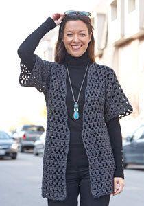 Open weave crocheted cardigan by HighlandCreek on Etsy, $50.00